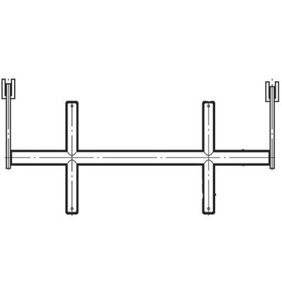 ロイヤル ブラケットクロスバー19径(自動ロック式抜け止め付き)1200mm Aニッケルサテン BX-19S-2025