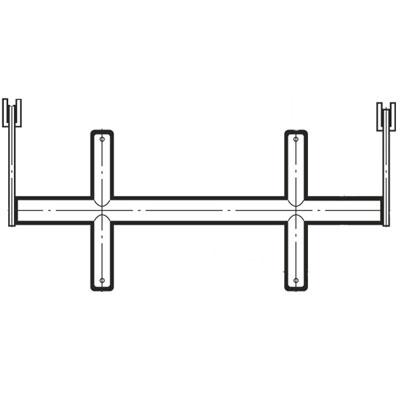 ブラケットクロスバー25径(自動ロック式抜け止め付き)1200mm クローム BX-25S-2015 ロイヤル BX-25S-2015
