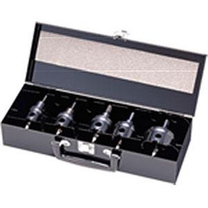 ユニカ HSS ハイスホールソー ツールボックスセット 19/23/28/34/40/50mm TB-09