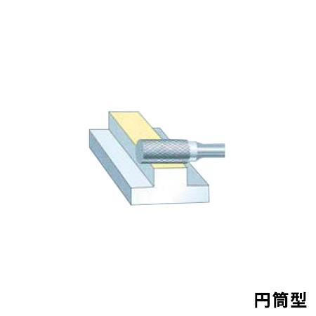 SUPER TOOL 超硬バー シャンク径6ミリ(円筒型)ダブルカット(刃径:19.0) SB1C10