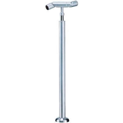 フレキシブルジョイント支柱(ベースプレート式)ヘアーライン 1本価格 ※メーカー取寄品 シロクマ ABR-723B