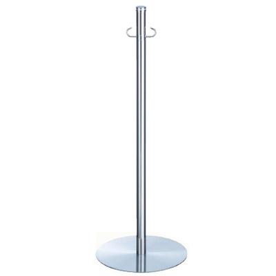 シロクマ フロアパーティションポール スタッキング クローム/鏡面 1本価格 ※メーカー取寄品 FPP-0207