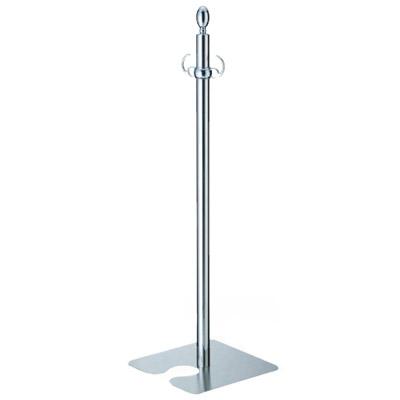 シロクマ フロアパーティションポール スタッキング クローム/鏡面 1本価格 ※メーカー取寄品 FPP-0408
