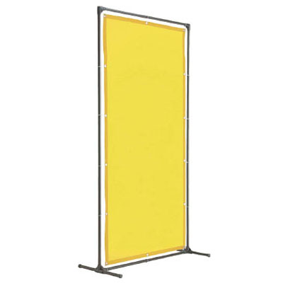 トラスコ 溶接遮光フェンス 1515型・単体型 固定足タイプ 黄 YF1515K-Y