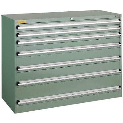 トラスコ VE13S型キャビネット 1300×550×H1000 引出7段※メーカー直送品 VE13S-1002