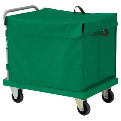 トラスコ 樹脂製運搬車グランカート 蓋付ハンドトラックボックス付 718×468 TP-702-THB