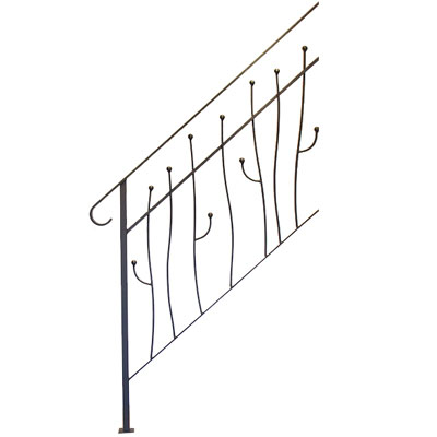 杉山製作所 ヨーク階段手摺A 3段タイプ サンドブラック ※代引利用不可・メーカー直送品 YOR-1470