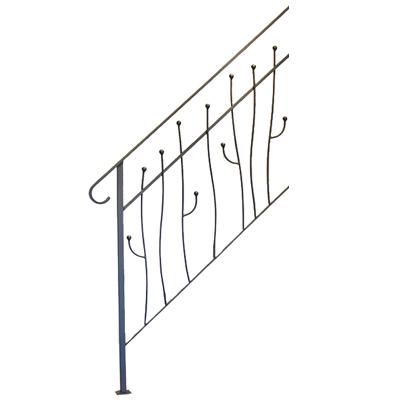 ヨーク階段手摺A 4段タイプ サンドブラック ※代引利用不可・メーカー直送品 杉山製作所 YOR-1471