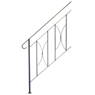 ヨーク階段手摺B 3段タイプ サンドブラック ※代引利用不可・メーカー直送品 杉山製作所 YOR-1472