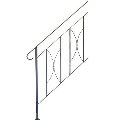 杉山製作所 ヨーク階段手摺B 4段タイプ サンドブラック ※代引利用不可・メーカー直送品 YOR-1473