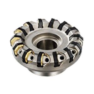 三菱マテリアル スーパーダイヤミル(鋳鉄高送り用)14枚刃 外径100 取付穴32-R AHX640W-100B14R