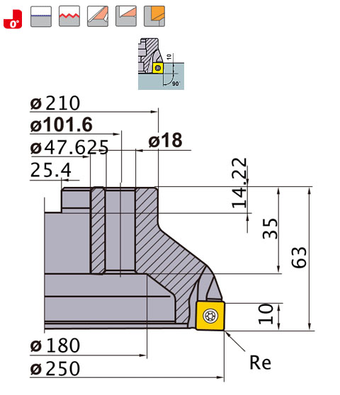 三菱マテリアルスーパーダイヤミルASX400R25018K