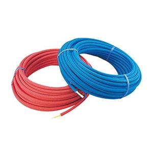 カクダイ 保温材つき架橋ポリエチレン管(青)20A ※メーカー直送品 672-118-50B