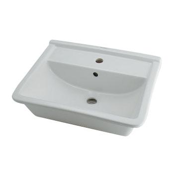 カクダイ 角型洗面器 1ホール W520×D420ミリ #DU-0302560000