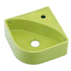 壁掛手洗器 イエローグリーン カクダイ 493-150-YG