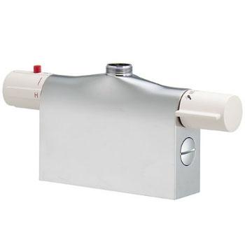 カクダイ サーモスタットシャワー混合栓本体(デッキタイプ) 175-400K