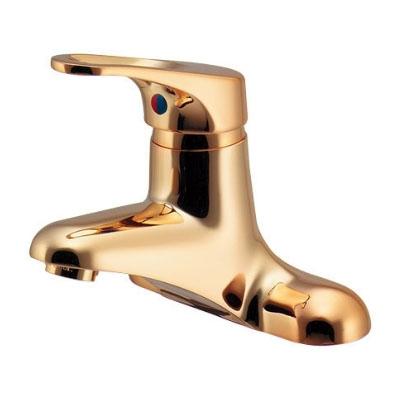 シングルレバー混合栓(ゴールド)逆止 カクダイ 185-203