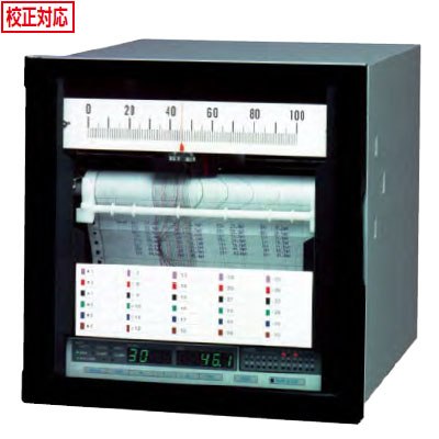 佐藤計量器 電子式記録計(ハイブリッドレコーダー 180mm幅)SKR-M18-06(6打点式) ※メーカー直送品 8097-XX
