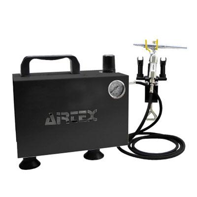 エアテックス エアテックス コンプレッサー エアーセット BOXセレクション ブラック ※取寄品 ASB-MJ722-2