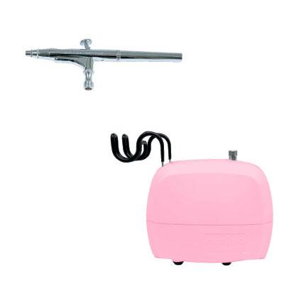 エアテックス コンプレッサー minimoネイルセット ピンク ※取寄品 APC010-N-5