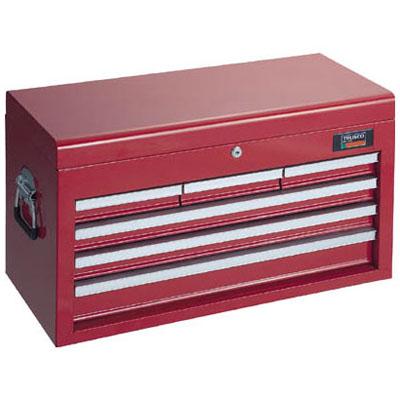 トラスコ ツールボックス キャビネット型・キーロック式引出4段 TCBOX-4R