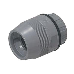 防水型コネクタ ミラフレキMF28用 グレー(50個価格) 未来工業 FPK-28FH