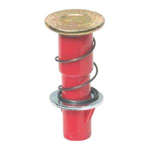 カラー・ヘッダーインサート(デッキプレート用・ばねタイプ)4分ボルト 赤(100個価格) 未来工業 NDB-4R