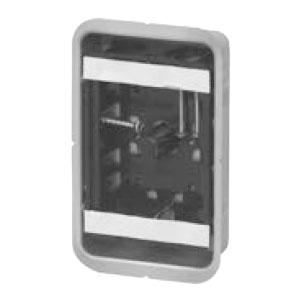 鋼製カバー付スライドボックス(省令準耐火対応)(センター磁石付・浅形)1ヶ用(50個価格) 未来工業 SBG-1FS