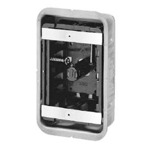 鋼製カバー付スライドボックス(省令準耐火対応)(センター磁石付)1ヶ用(50個価格) 未来工業 SBG-1F