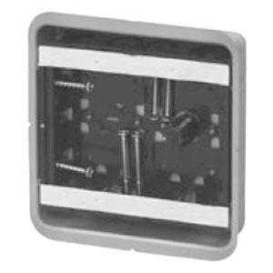未来工業 鋼製カバー付スライドボックス(省令準耐火対応)(センター磁石付・浅形)2ヶ用(20個価格) SBG-2FS