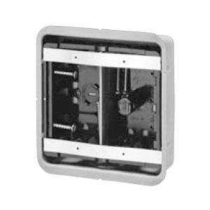 未来工業 鋼製カバー付スライドボックス(省令準耐火対応)(センター磁石付)2ヶ用(20個価格) SBG-2F