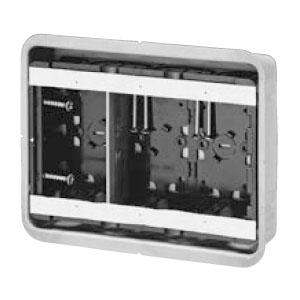 鋼製カバー付スライドボックス(省令準耐火対応)(磁石なし)3ヶ用(10個価格) 未来工業 SBG-3FO