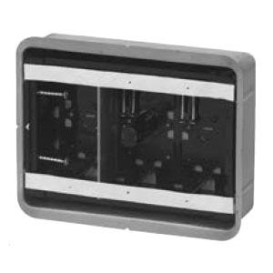 鋼製カバー付スライドボックス(省令準耐火対応)(センター磁石付・深形)3ヶ用(10個価格) 未来工業 SBG-3FY