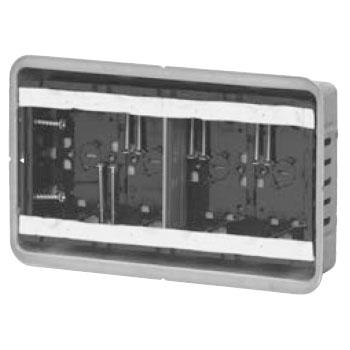 鋼製カバー付スライドボックス(省令準耐火対応)(磁石なし)4ヶ用(10個価格) 未来工業 SBG-4FO