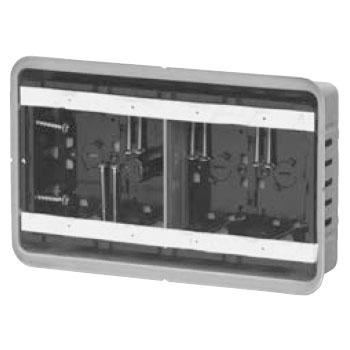 鋼製カバー付スライドボックス(省令準耐火対応)(センター磁石付)4ヶ用(10個価格) 未来工業 SBG-4F