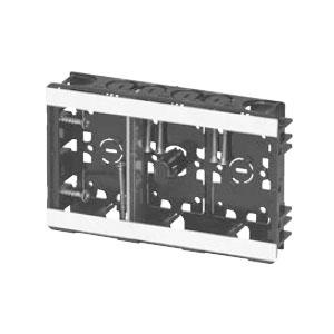 未来工業 小判スライドボックス(センター磁石付・浅形)3ヶ用(20個価格) SBG-S3W