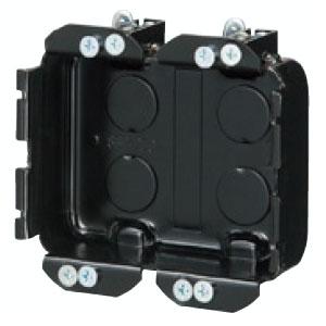 小判穴ホルソー用パネルボックス(鉄製)2ヶ用(10個価格) 未来工業 SBP-2FG