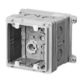 両面埋込四角アウトレットボックス(2個用塗代カバー付)(16個価格) 未来工業 R-CDO-4C12P2