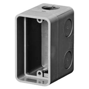 埋込スイッチボックス 1個用大深形穴有(50個価格) 未来工業 CSW-1S78N2
