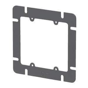 鉄製平塗代カバー 大形四角 スイッチカバー2個用・平(100個価格) 未来工業 OFL-122-F
