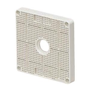 未来工業 ポリ台(取付自在型)照明器具取付用プラスチック絶縁台 正方形 ホワイト(40個価格) POWF-1212W