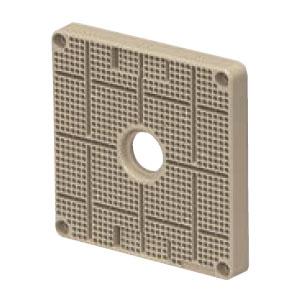ポリ台(取付自在型)照明器具取付用プラスチック絶縁台 正方形 ベージュ(20個価格) 未来工業 POWF-1717J