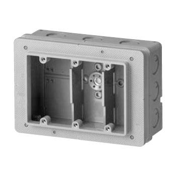埋込スイッチボックス3個用大深形(塗代カバー付)(20個価格) 未来工業 CSW-3N65PS3