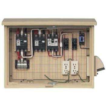 未来工業 屋外電力用仮設ボックス(主、中継回路・末端路用)(1個価格) 16A-M2CV6TB