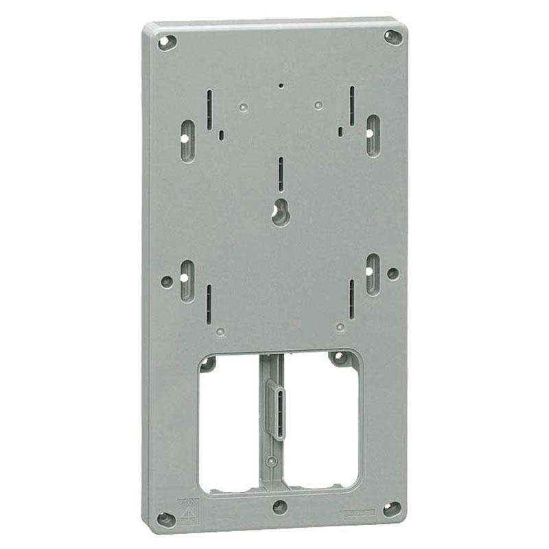 計器箱取付板 グレー 三相小(M)計器箱用(10個価格) 未来工業 BP-2TLG