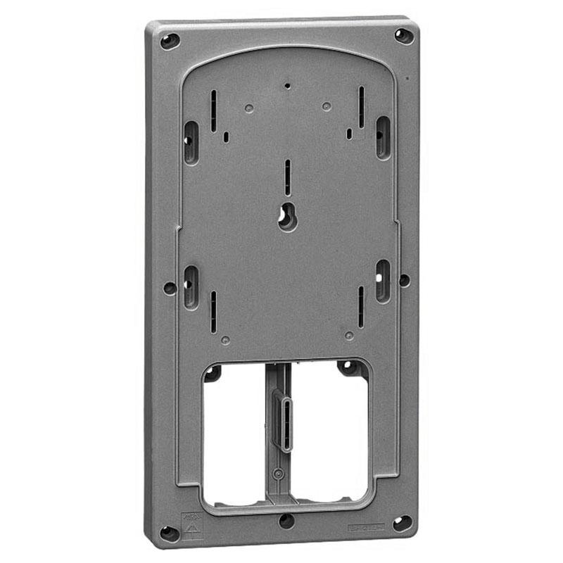 計器箱取付板 ダークグレー 三相小(M)計器箱用(10個価格) 未来工業 BP-2TLHDG