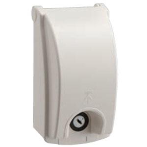 プロテクトカバー(器具用保護カバー)鍵付 ミルキーホワイト(10個価格) 未来工業 WBK-1KM