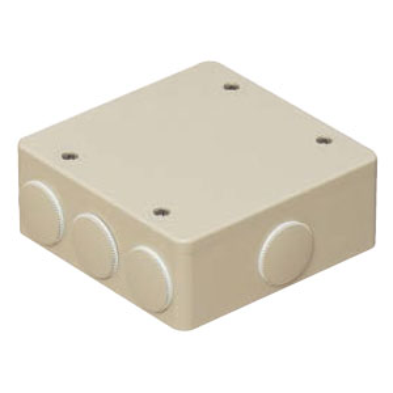 未来工業 PVKボックス(防水タイプ)おねじキャップ付 グレー(20個価格) PVK-ALNP
