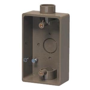 露出スイッチボックス ライトブラウン(50個価格) 未来工業 PVR22-2LB