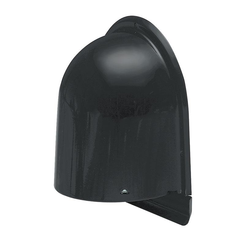 パイプフード(鐘型)寒冷地仕様 ルーバー付 サイズ100 ブラック(ツヤなし)(12個価格) 未来工業 PYK-S100KLKN